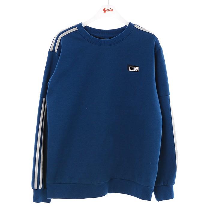 소이 NC02 투라인 블루 맨투맨 티 19W0408