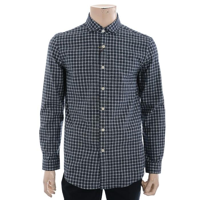 란찌 NC02 면 기모 체크 셔츠 LAYS19T0578