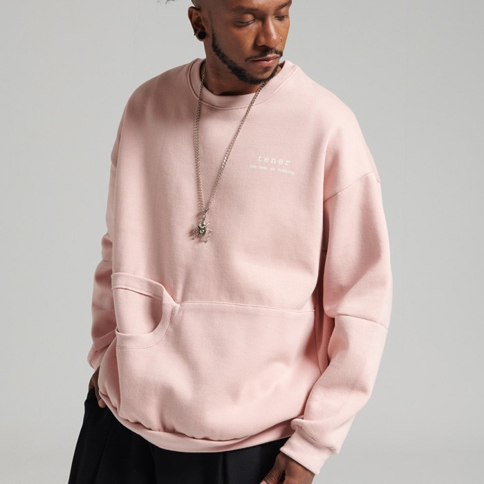 [테네르 ] 캥거루 맨투맨 핑크