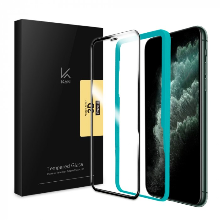 [케이안] 아이폰11 풀커버 크리스탈아머3D 강화유리필름