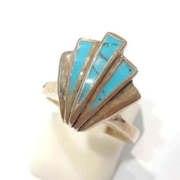 [블루케이] 터키석 합성석 반지 n191010-04