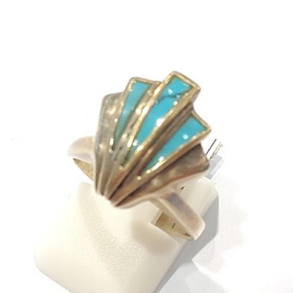 [블루케이] 터키석 합성석 반지 n191010-03