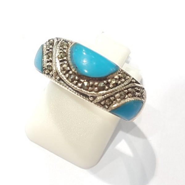 [블루케이] 터키석 합성석 반지 n191010-06