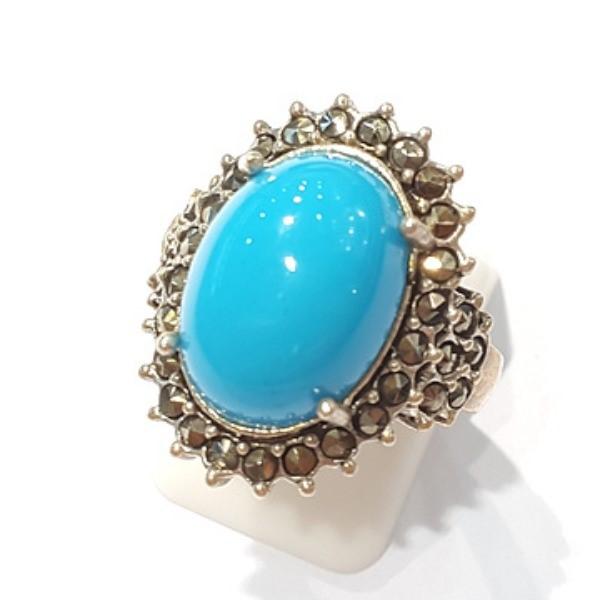 [블루케이] 터키석 합성석 반지 n191010-17