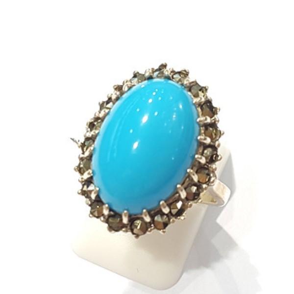 [블루케이] 터키석 합성석 반지 n191010-18