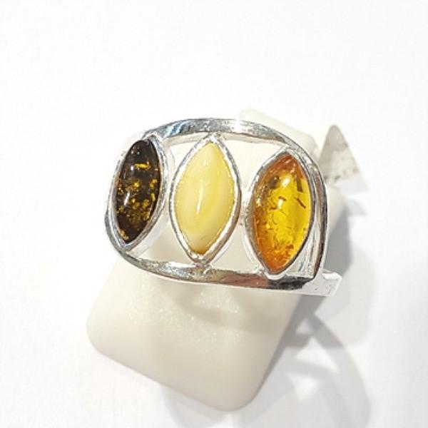 [블루케이] 호박 원석 반지 n191013-08