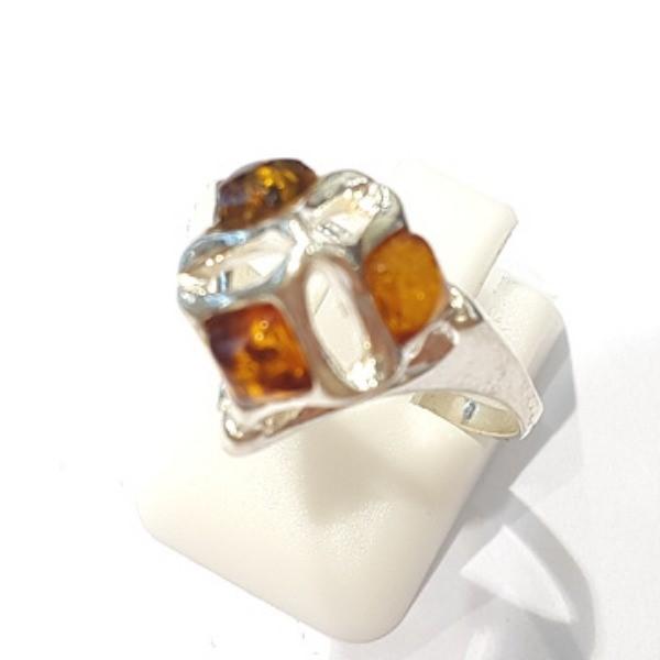 [블루케이] 호박 원석 반지 n191013-09
