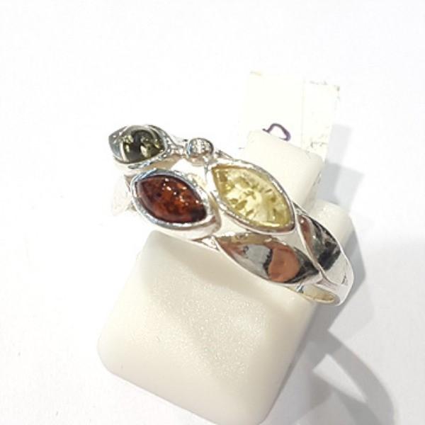 [블루케이] 호박 원석 반지 n191013-12