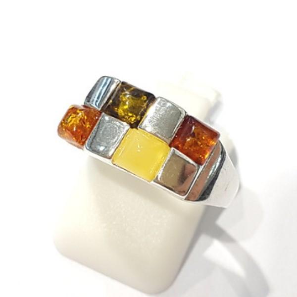 [블루케이] 호박 원석 반지 n191014-05