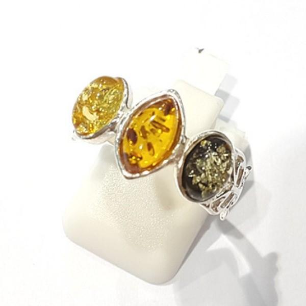 [블루케이] 호박 원석 반지 n191014-06