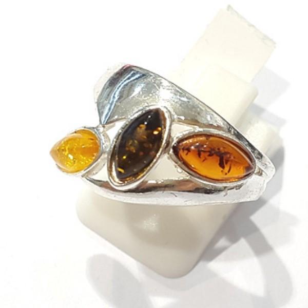 [블루케이] 호박 원석 반지 n191014-09