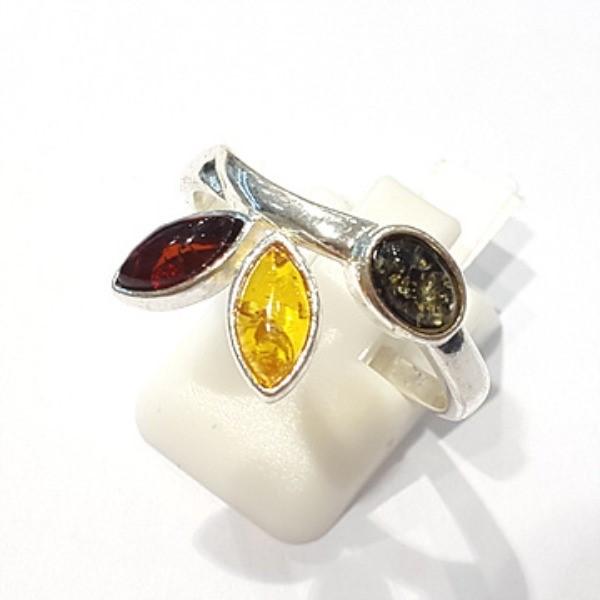 [블루케이] 호박 원석 반지 n191014-11