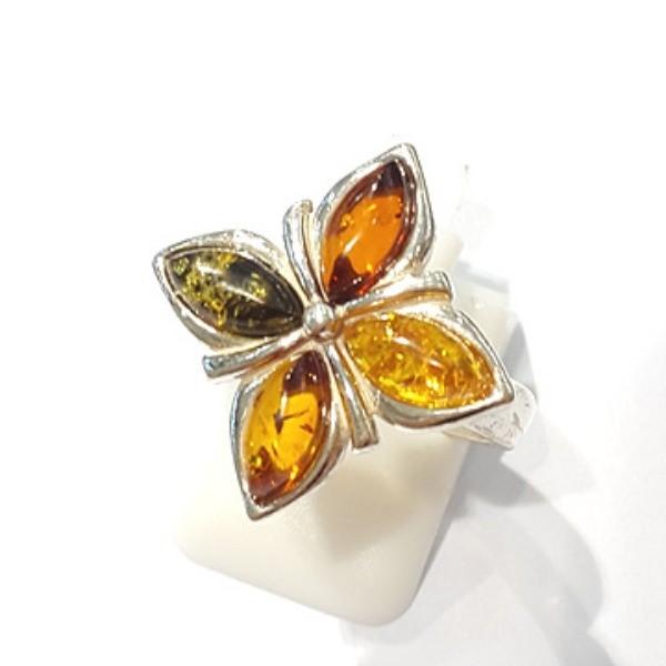 [블루케이] 호박 원석 반지 n191014-12