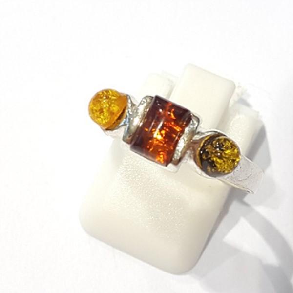 [블루케이] 호박 원석 반지 n191014-13