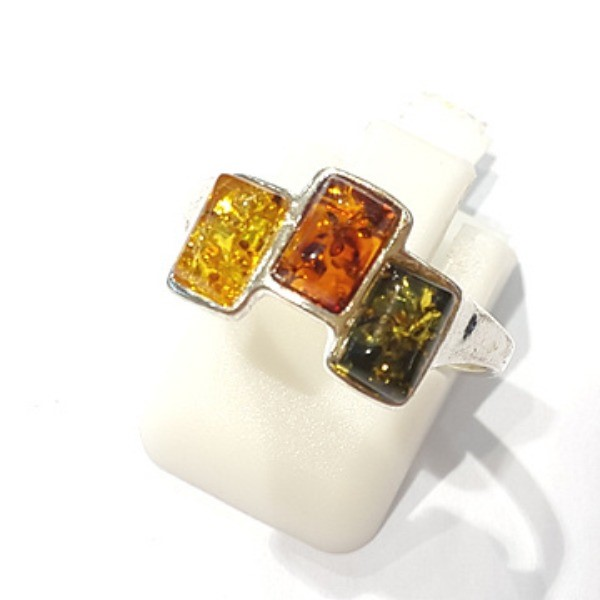 [블루케이] 호박 원석 반지 n191014-14