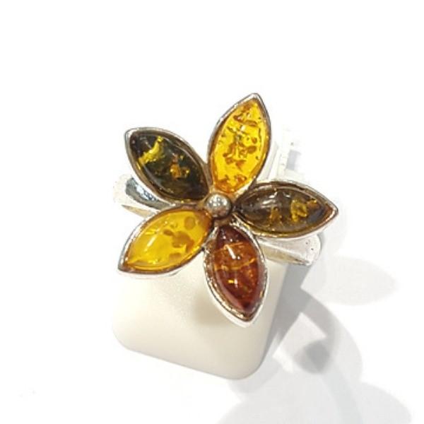 [블루케이] 호박 원석 반지 n191014-18