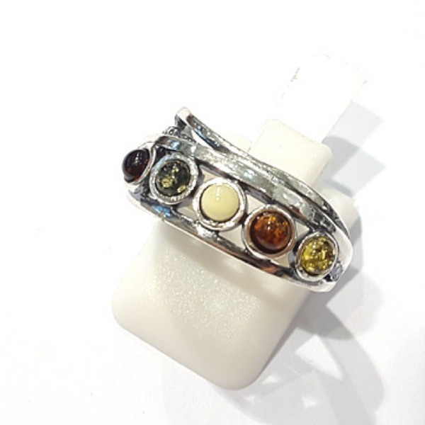 [블루케이] 호박 원석 반지 n191014-19