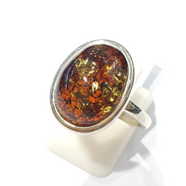 [블루케이] 호박 원석 반지 n191015-15