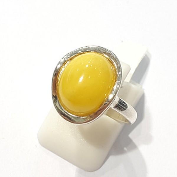 [블루케이] 호박 원석 반지 n191015-19