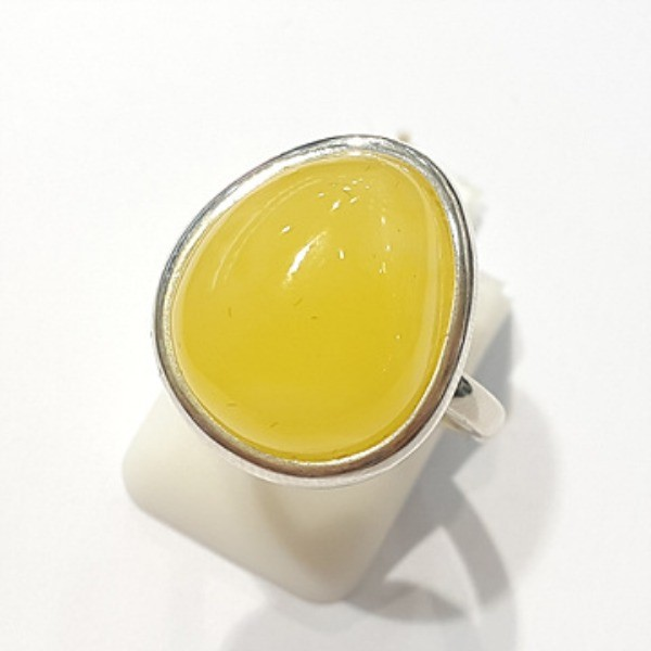 [블루케이] 호박 원석 반지 n191015-20