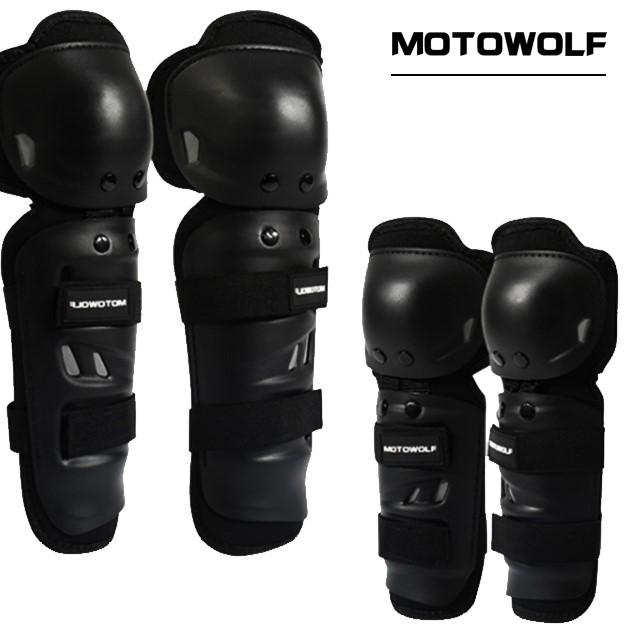 모토울프 팔꿈치, 무릎 보호대 세트 오토바이, 전동킥보드, 자전거 보호대