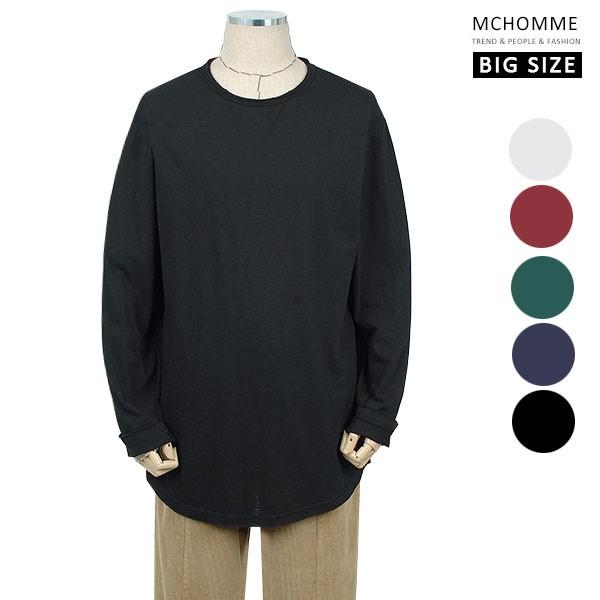 엠씨옴므 빅사이즈(~3XL) 코디 하기 좋은 슬라브 긴팔 이너 티셔츠 BE19S100_B