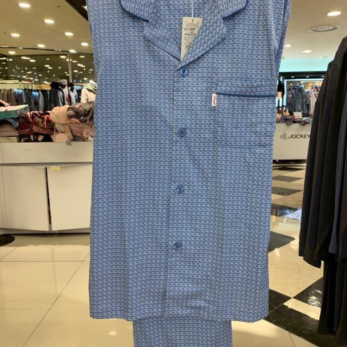 트라이엄프 NC05 블루 스퀘어 남성 잠옷 TMJ7015