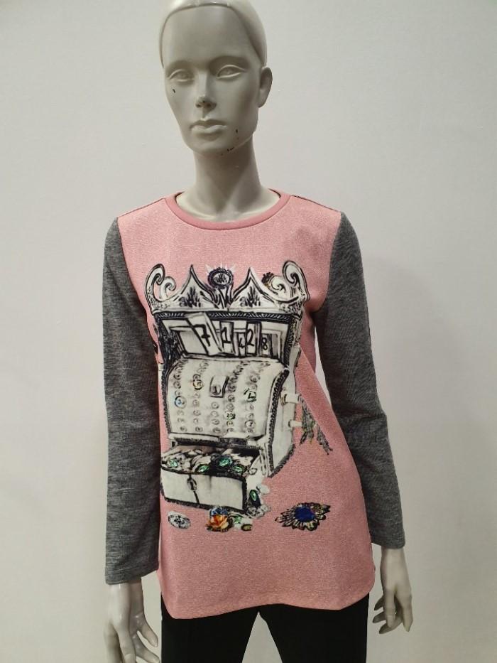 [조이너스 ] 앞판 프린팅 티셔츠 JA6W0-WKL190