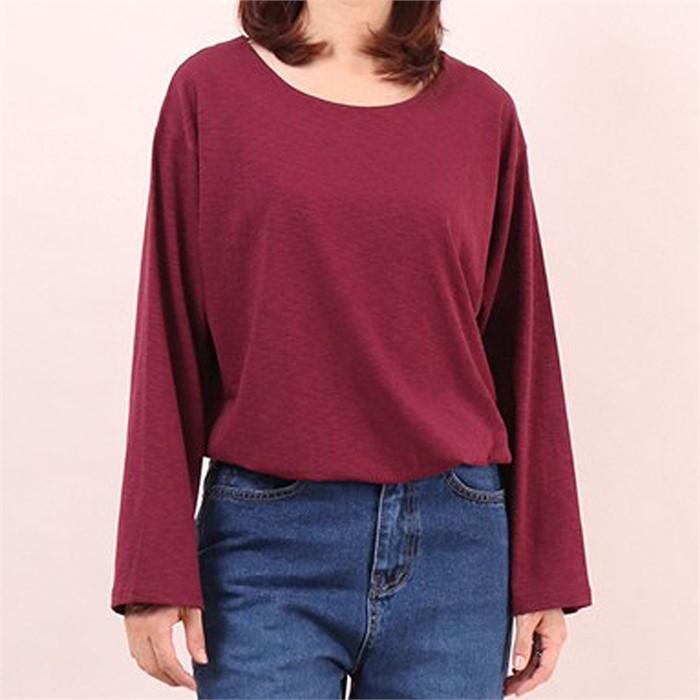 [SidMarket] 데일리 라운드 루즈핏 티셔츠 19A114C 빅사이즈 여성