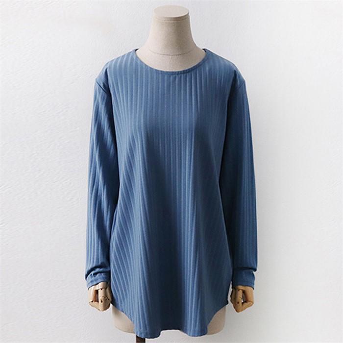 [SidMarket] 베이직 라운드 골지 티셔츠 19A114E 빅사이즈 여성