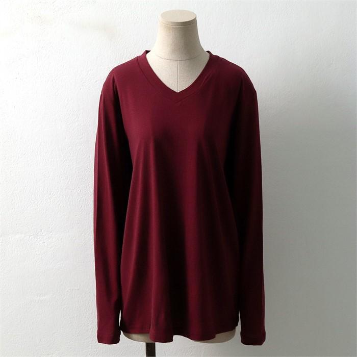 [SidMarket] 베이직 코튼 브이넥 티셔츠 19A115G 빅사이즈 여성