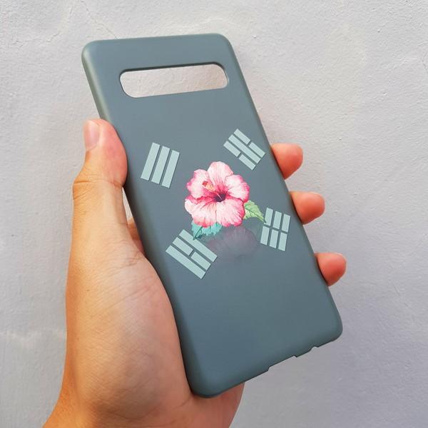 [무광] 무궁화 태극기 카키 스마트폰 케이스