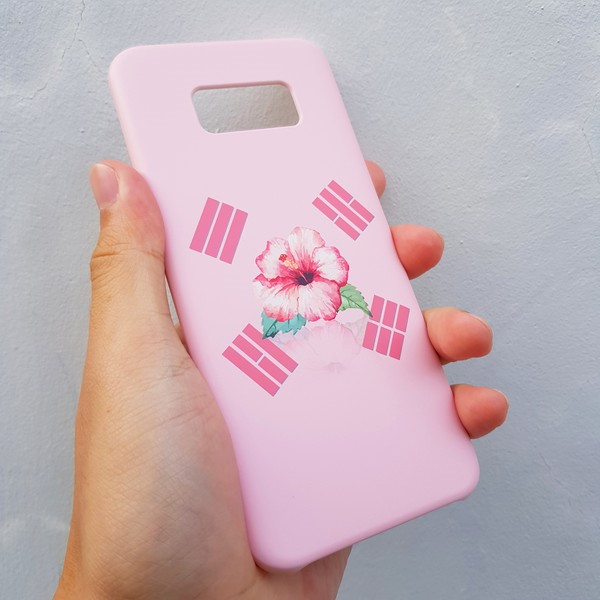 [무광] 무궁화 태극기 핑크 스마트폰 케이스