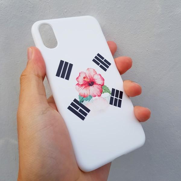 [무광] 무궁화 태극기 화이트 스마트폰 케이스
