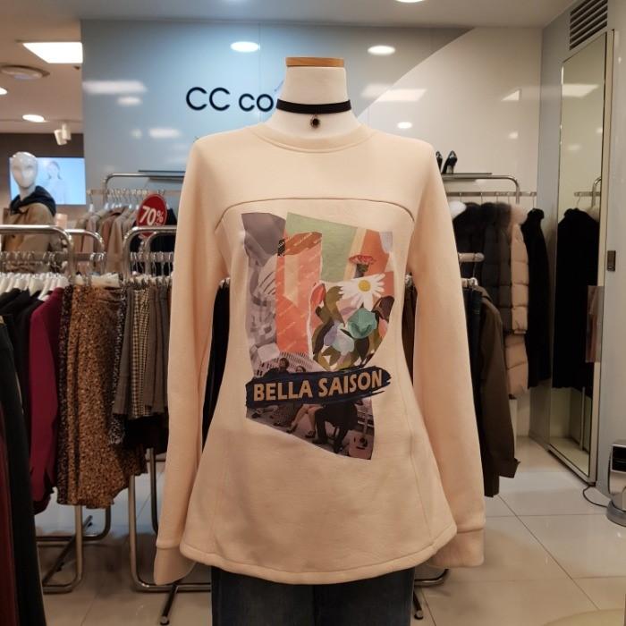 CC collect NC02 슬림핏라운드티셔츠 C184PSM031 CR