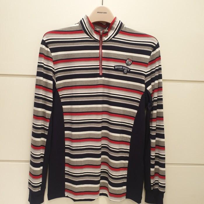 마코(MACAW) NC05 선염스트라이프 티셔츠 MHM3-TH02