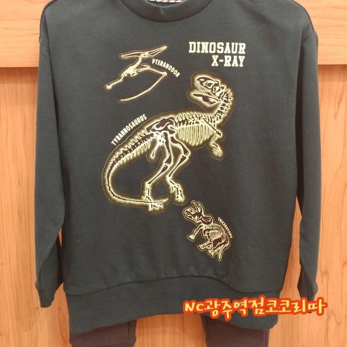 코코리따 NC05 공룡야광 맨투맨 CEMA199J5