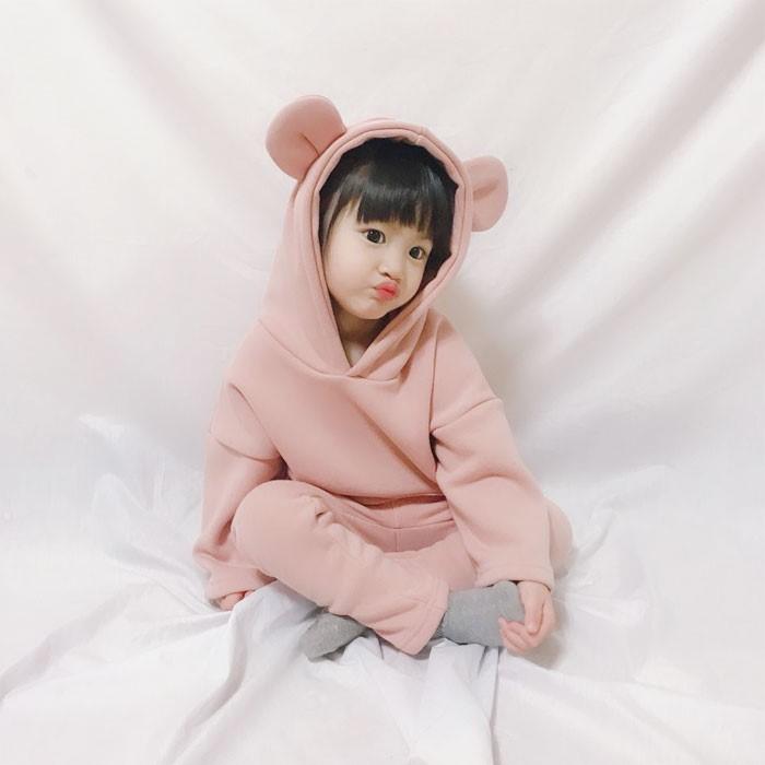[트리베어] 유아동복 밍크기모 트레이닝복 상하세트