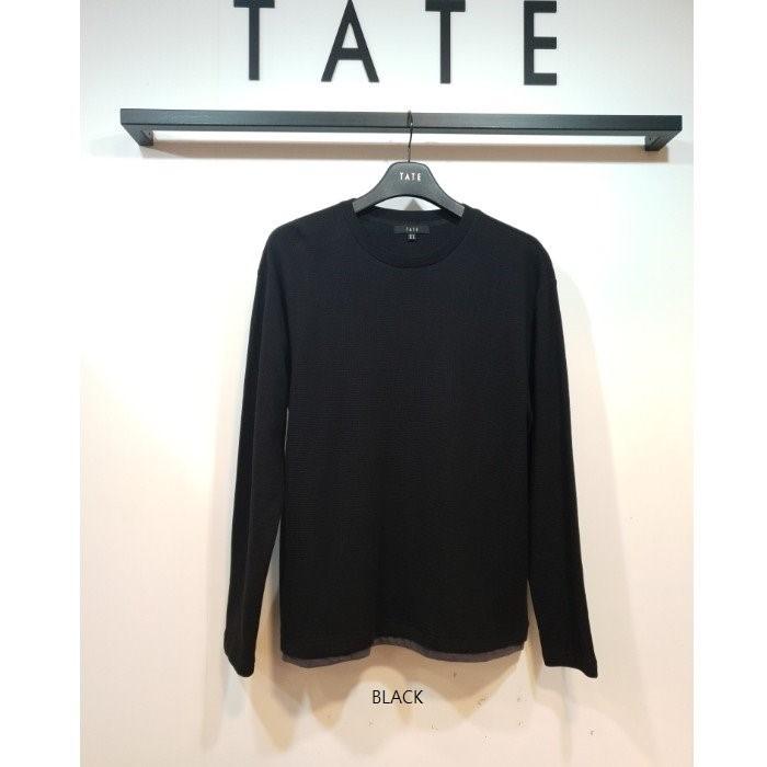 TATE NC02 남여 라운드 레이어드 티셔츠 KA9W9-UKL040