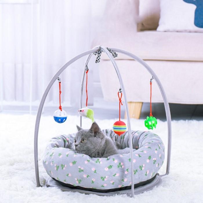 [펫블라썸] 고양이 집 숨숨 강아지 용품 쿠션 하우스 캣 토이 방석 라지