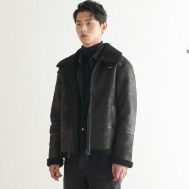 TATE NC02 남성 무스탕 집업 점퍼 KA9W0-MGJ030