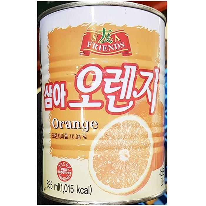 오렌지 농축액 과채주스 식자재도매 (835mlX1개) 삼아