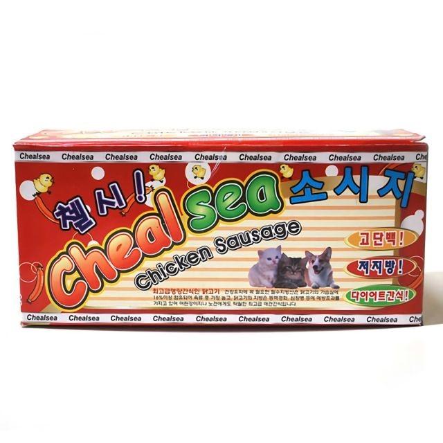 첼시 강아지 고양이 프리미엄 닭가슴살 소세지 120p