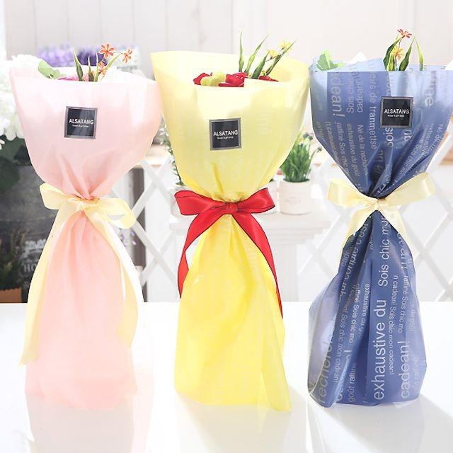 장미 10송이 꽃다발(블루) 비누꽃 졸업식 재롱잔치