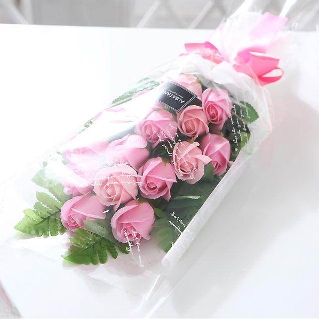 장미 15송이 꽃다발(핑크) 비누꽃 졸업식 재롱잔치