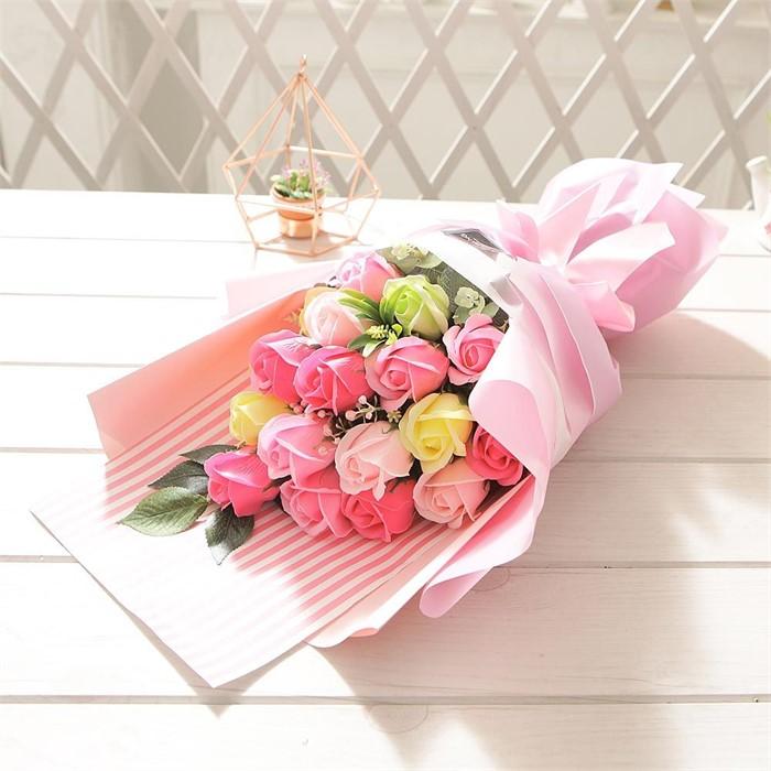 러블리로즈부케(핑크) 비누꽃 졸업식 재롱잔치 꽃다발