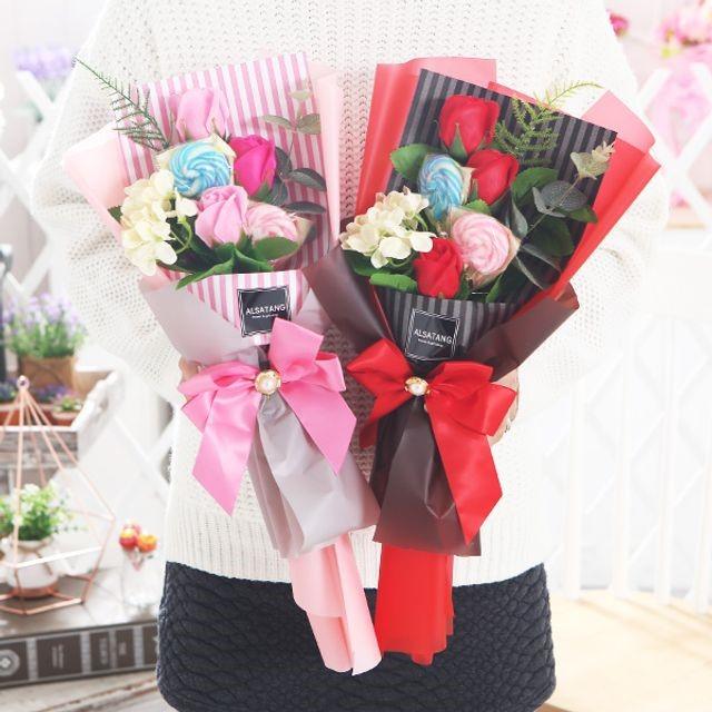 수국캔디부케(핑크) 비누꽃 졸업식 재롱잔치 꽃다발