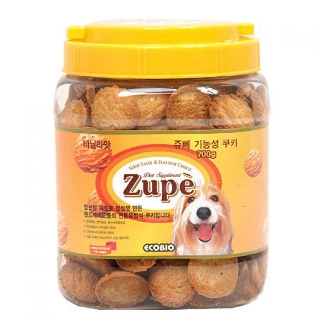 ZUPE 강아지 애견 간식 기능성 쿠키 바닐라맛 700g