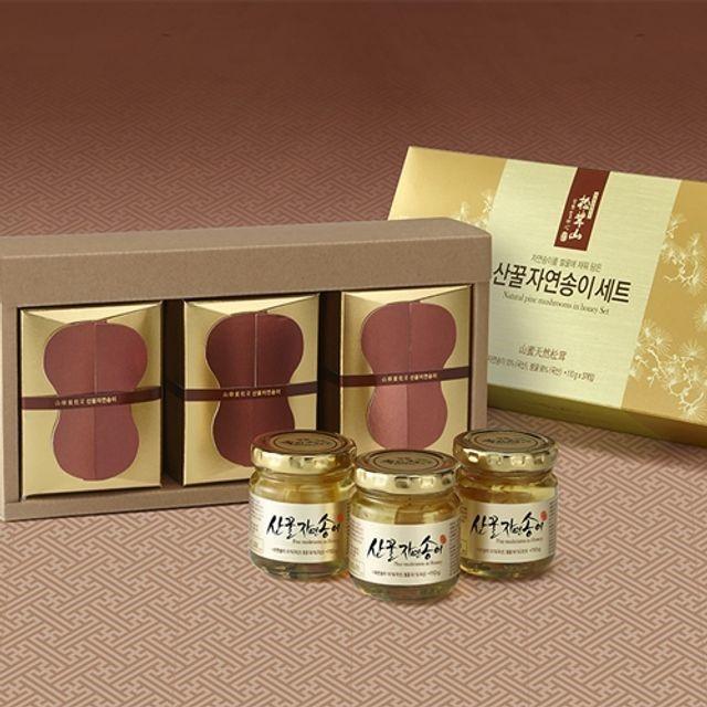 양양 산(山)꿀 자연송이 담은꿀 110gx3(유리병)