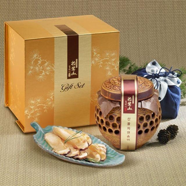 양양 산(山)꿀 자연송이 담은꿀(도자기) 400g